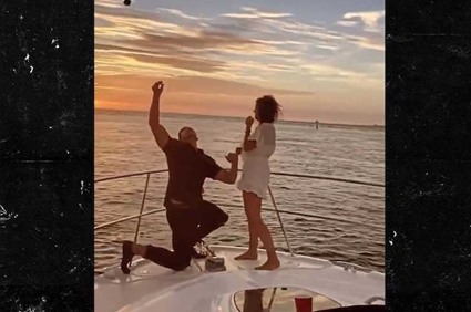 Hysterical Video of Wedding Proposal When Ring Goes Overboard
