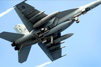 F-18 jet crashes in Kern County, California; pilot ejects safely