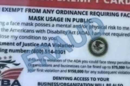 DOJ warns of fake flyers, documents about face mask requirements